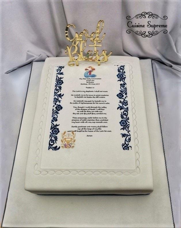 Holy Communion Sponge Cake