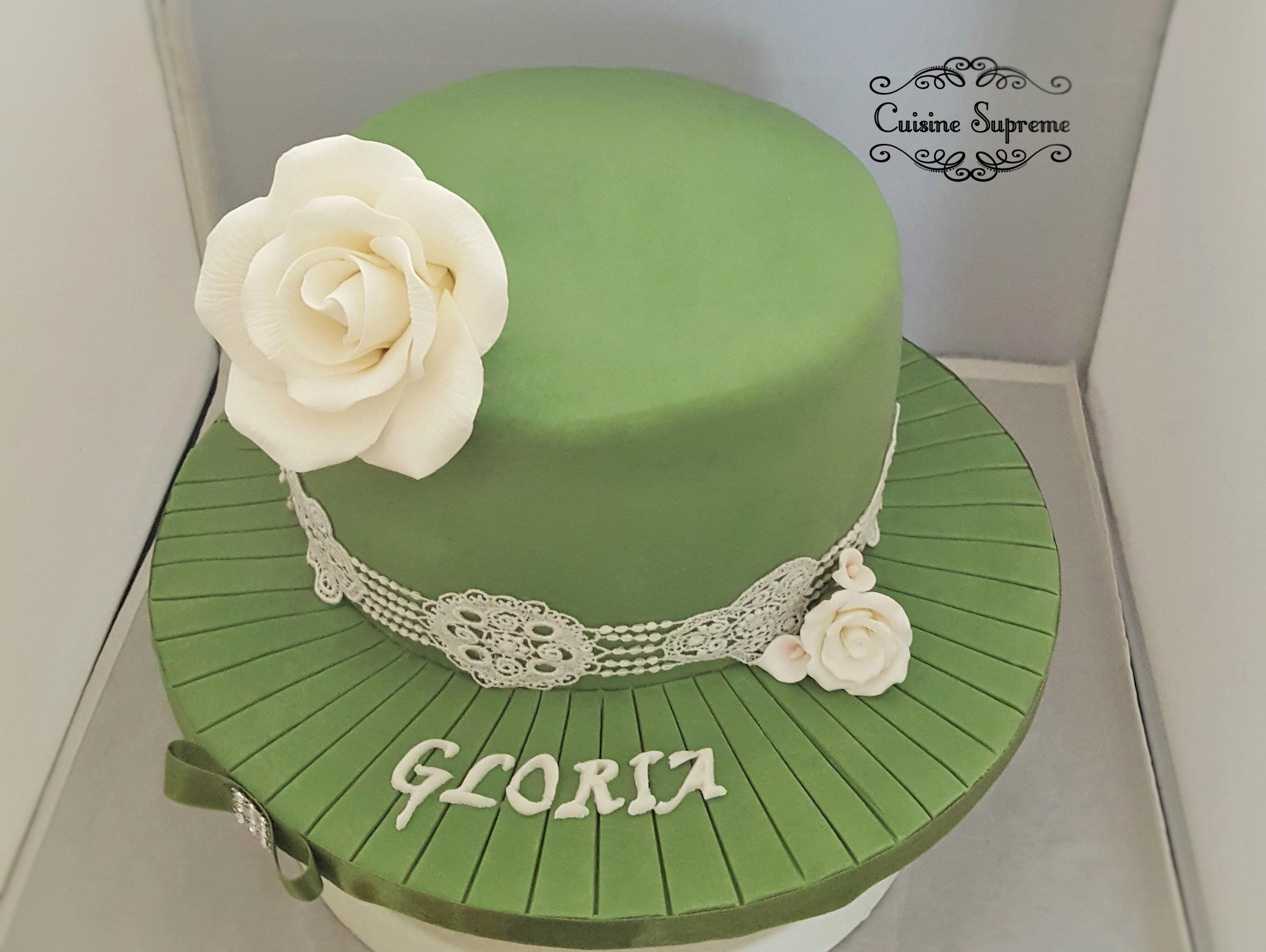 Hat themed Sponge cake