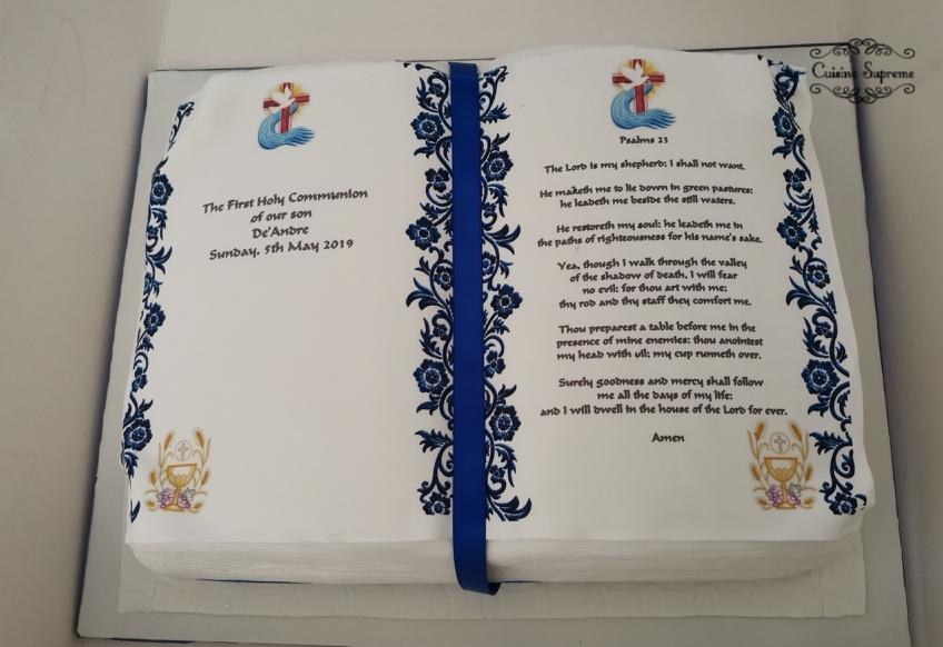 Holy Communion Red Velvet Cake