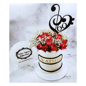 Fresh Rose 60th birthday cake