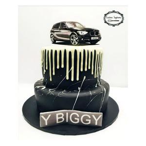 Vanilla Sponge BMW Theme Cake