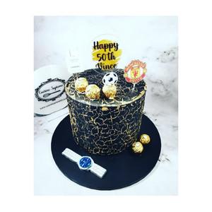Vanilla sponge 50th birthday cake