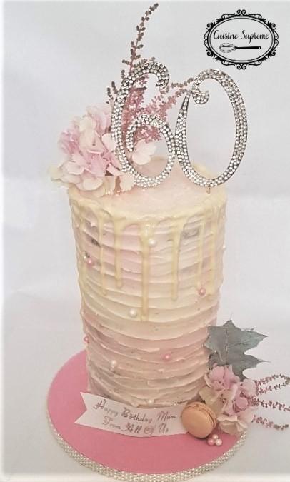 60th Birthday Cake - Chocolate, Vanilla and Carrot Cake