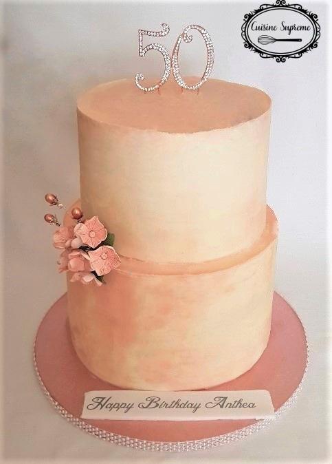 50th Birthday Red Velvet Buttercream Cake