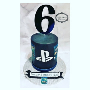 Chocolate Playstation Themed Cake