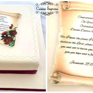 Sponge Ordination Cake