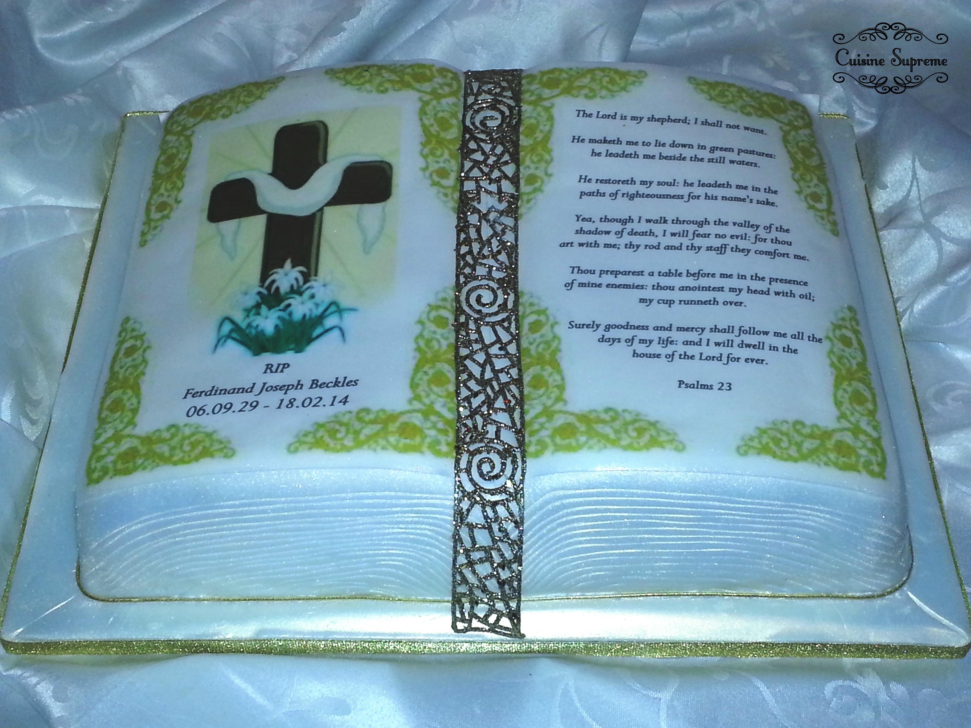 Funeral Sponge Cake