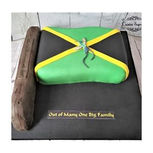 Jamaican Flag Family Reunion Rum Cake