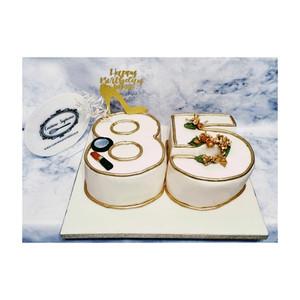 85th Vanilla Sponge Birthday Cake