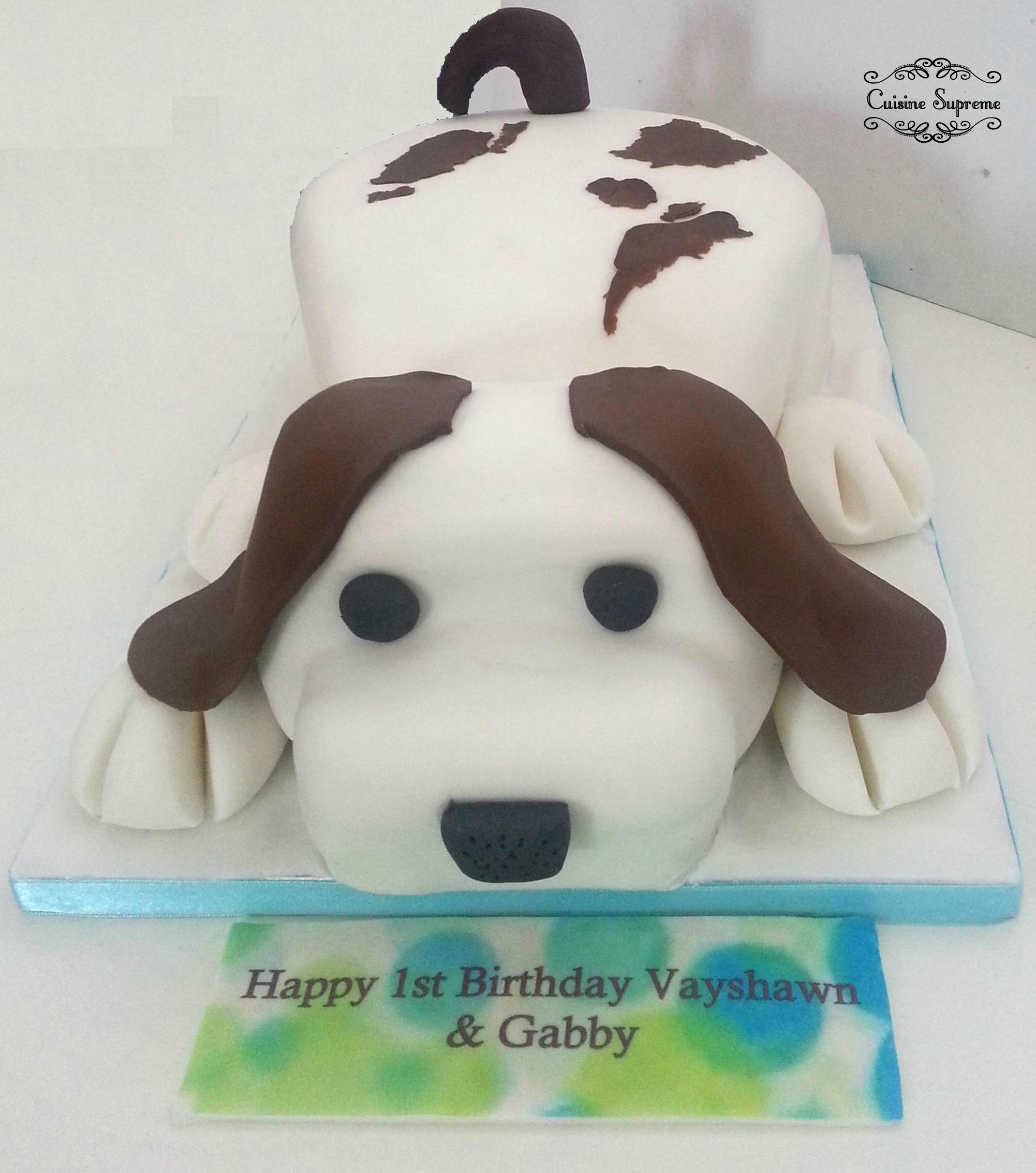 Children's Birthday Dog Cake