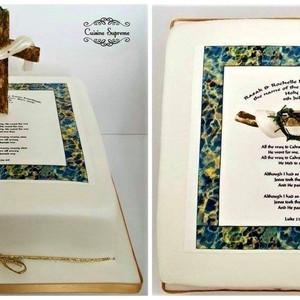 Vanilla Sponge Baptism Cake