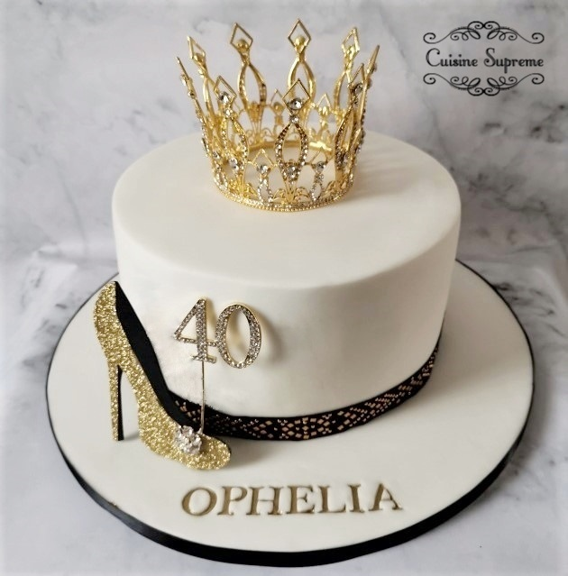 40th Birthday Sponge Cake