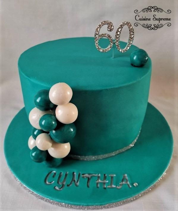 60th Birthday Sponge Cake