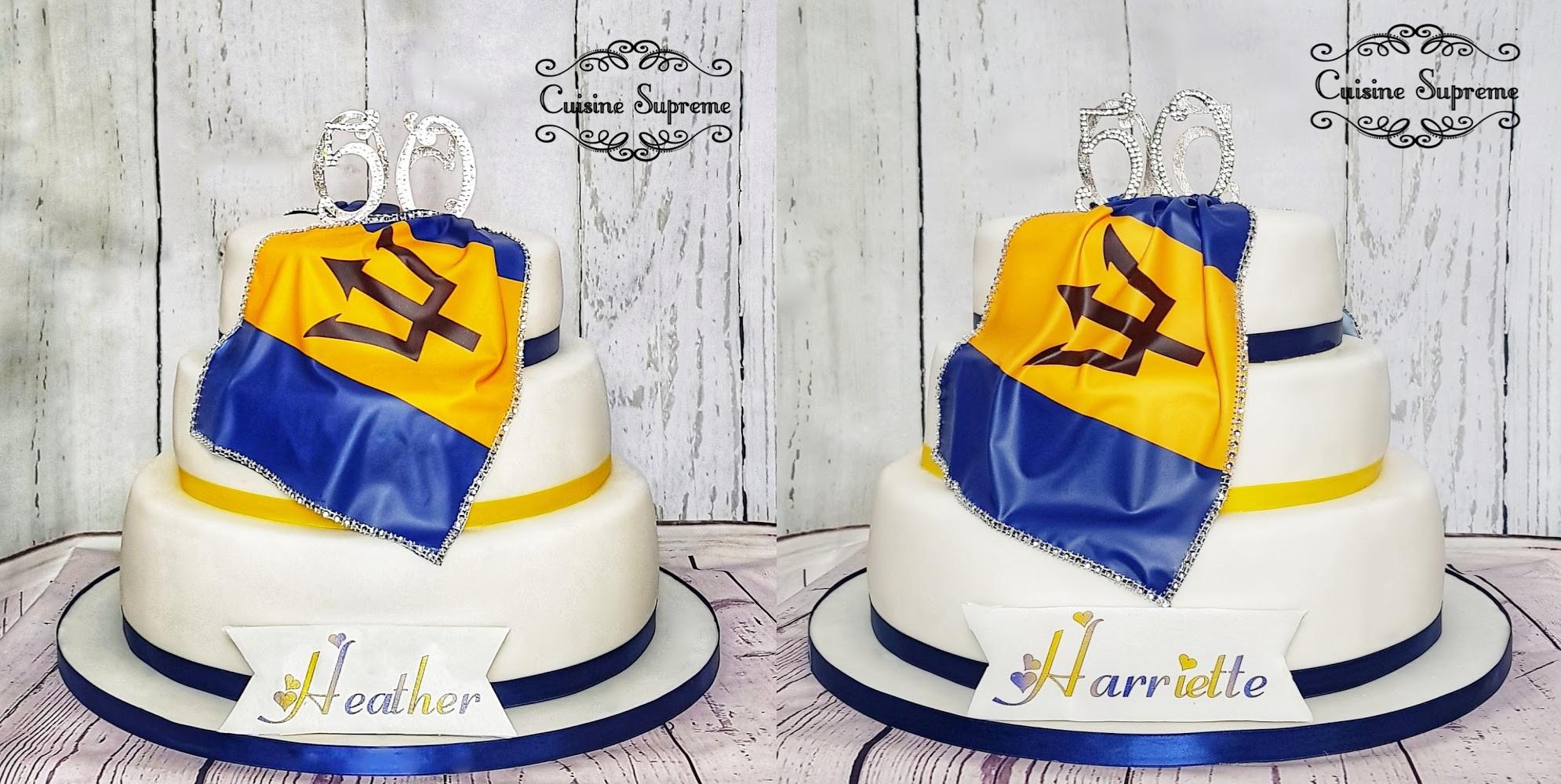Women's 50th birthday cake
