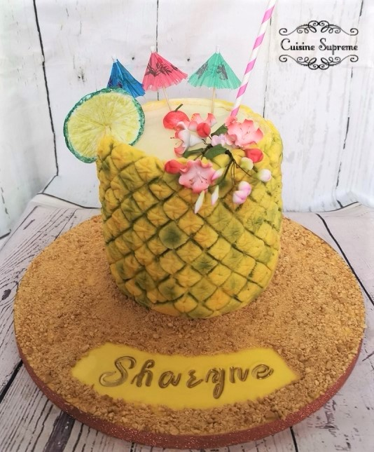 Pineapple Cake Malibu Buttercream