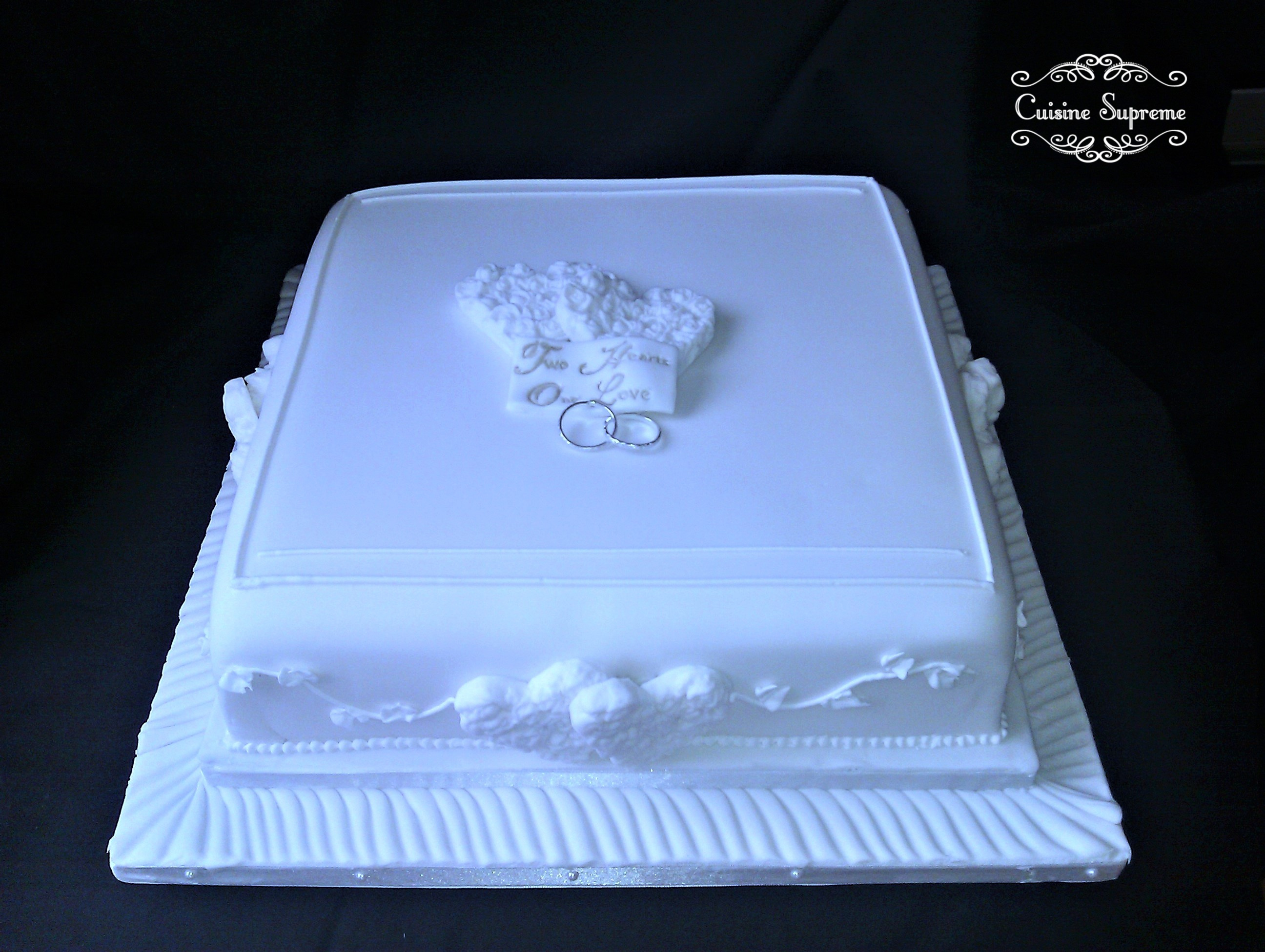 Wedding Cake All White - July 2014