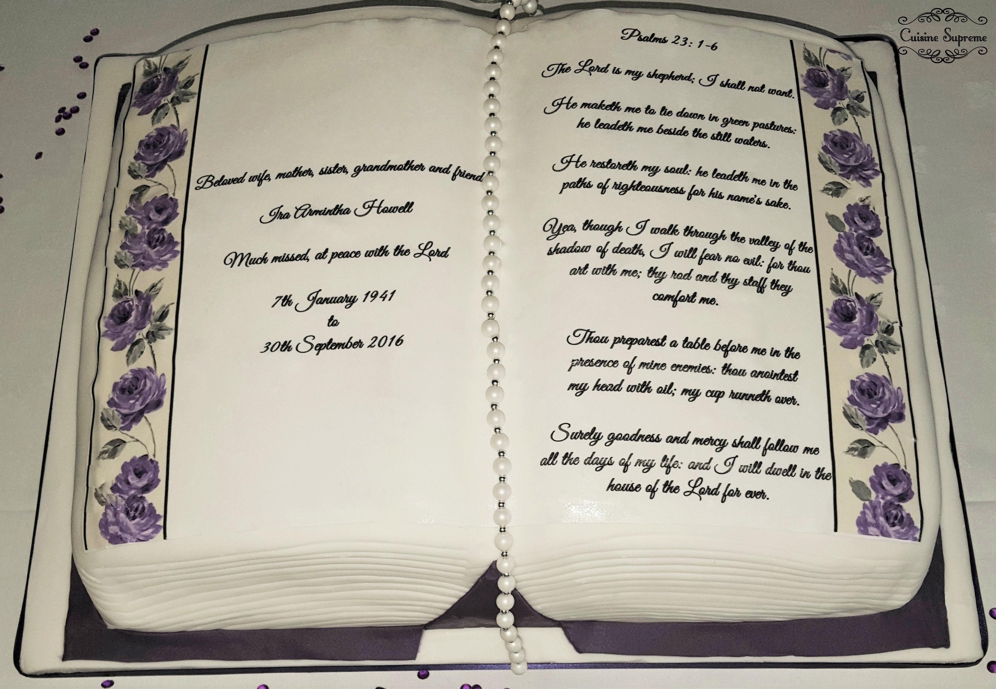 Caribbean Sponge cake - Funeral