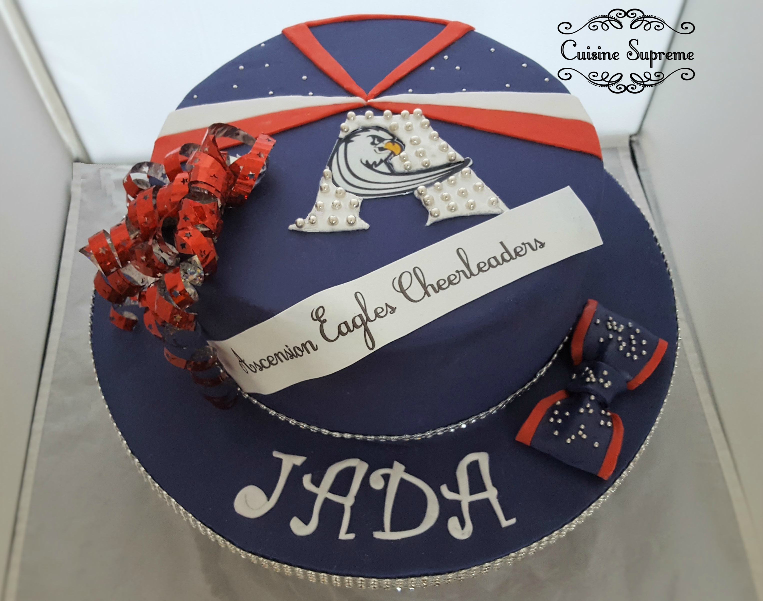 Cheerleader Chocolate Cake