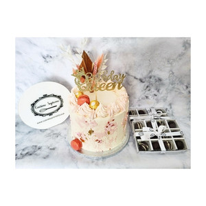 Vanilla Sponge Cake in Blush