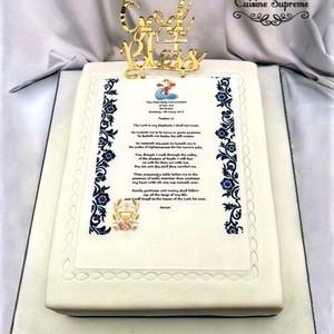Sponge Holy Communion Cake