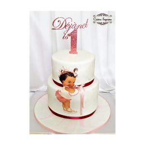 Two Tier Red Velvet and Vanilla Sponge Cake