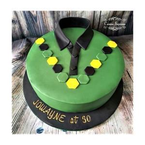 30th birthday Jamaican theme Tshirt rum cake.