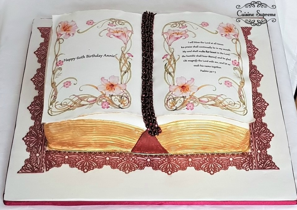 Book themed 60th Birthday Cake
