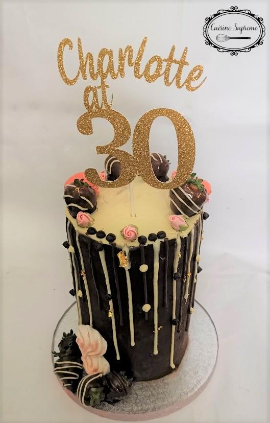 Gluten Free Chocolate Drip Cake, 30th Birthday