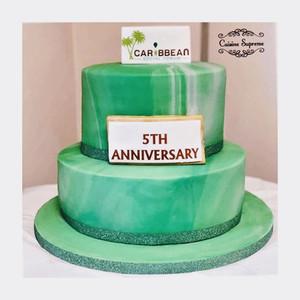 Rum fruit cake and sponge cake for 5th anniversary
