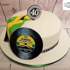 Caribbean sponge 40th birthday cake