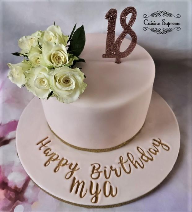 18th BIrthday Sponge Cake