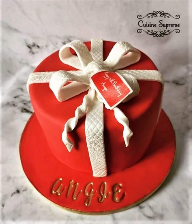 50th BIrthday Sponge Cake