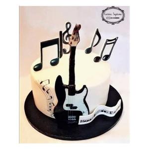 Red Velvet Music Themed Cake