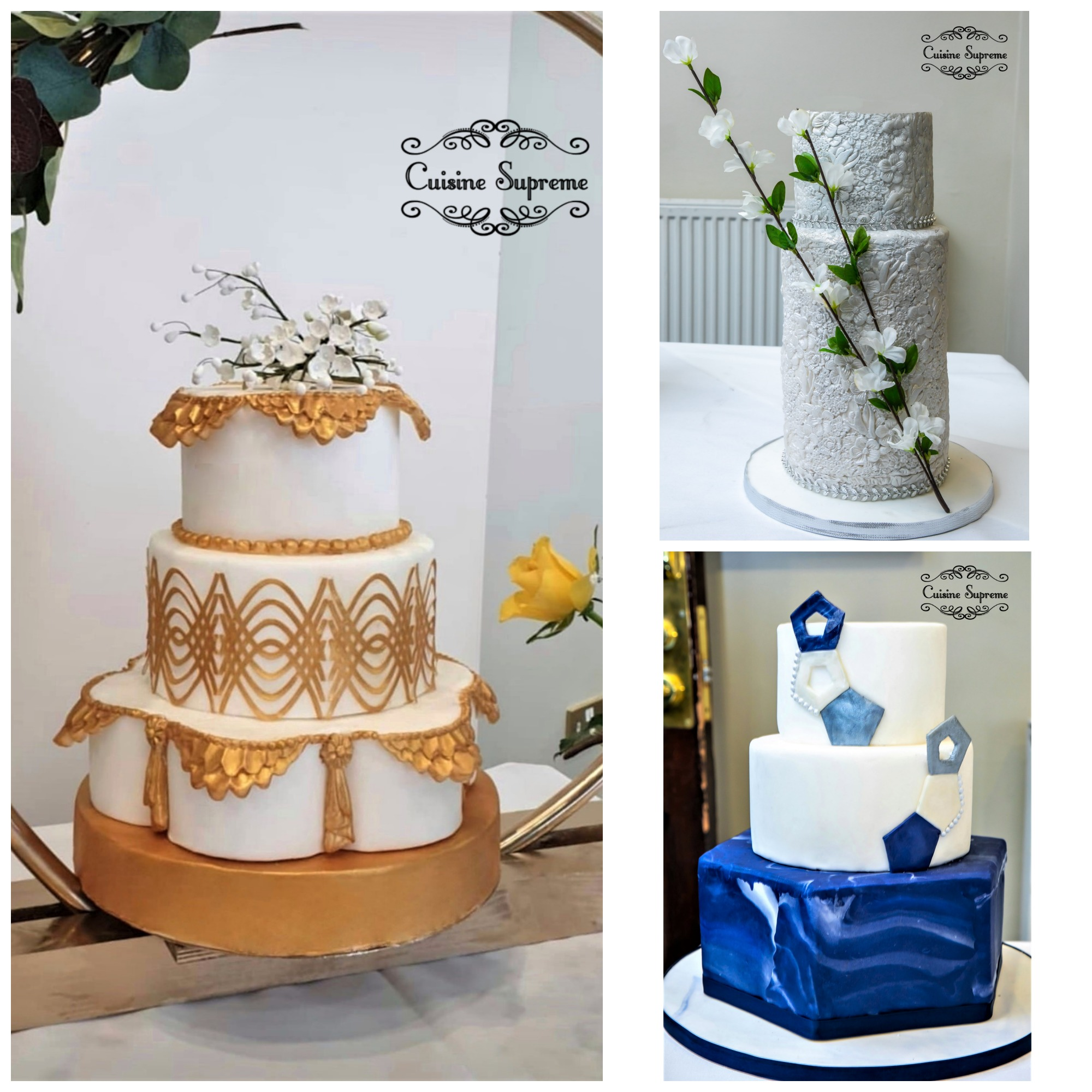 Wedding Cakes Prepared for the De Vere Wedding Fair, Feb 2020