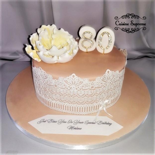 80th Birthday Rum Fruit Cake