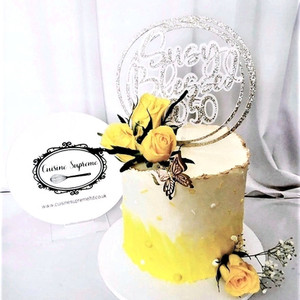 Milestone Birthday Vanilla Sponge Cake