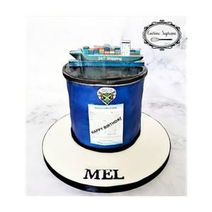 Rum cake barrel themed birthday cake