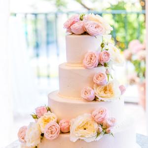 Peony 4 Tier Wedding Cake