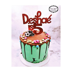 Vanilla Sponge birthday cake with football theme