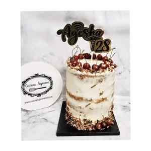 Cherry and Almond Birthday Cake