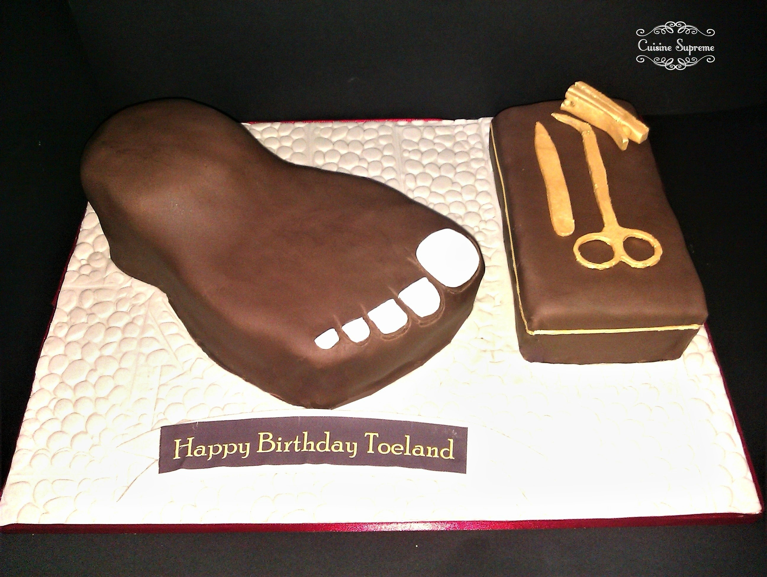 Personalised Birthday Chocolate Cake
