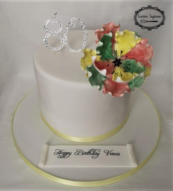 80th Lemon Drizzle Cake