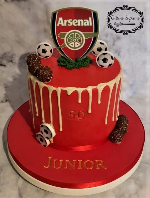 50th Birthday Arsenal Cake