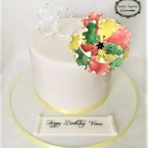 8inch Tall Vanilla Milestone Cake