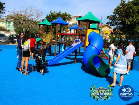 Novo playground do Colégio Objetivo Camboinhas