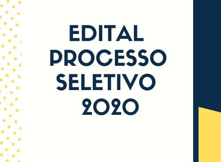 REGULAMENTO PROCESSO SELETIVO 2020
