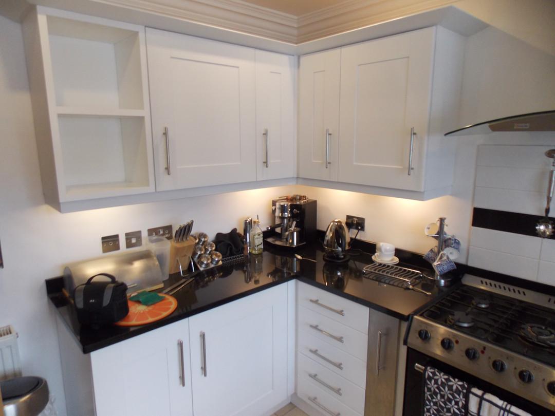 kitchen doors resprayed in Poynton Cheshire