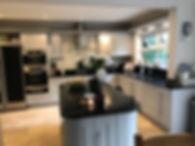 kitchen respray / kitchen doors in little greene french grey