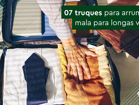 Aprenda 7 truques para arrumar mala para uma viagem longa!