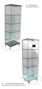 vetrine e vetrinette in cristallo